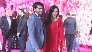 Karanvir Bohra With Wife Teejay At  Karim Morani's Son Azhar's Wedding Reception