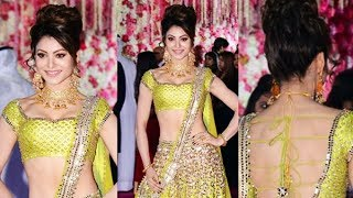 Gorgeous Urvashi Rautela At Karim Moranis Son Azhar's Wedding Reception