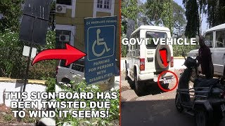 Disabled Don't Get To Use Their Parking Space Due To Govt Vehicles