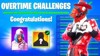 OVERTIME CHALLENGES FREE REWARDS - SHARE THE LOVE EVENT FORTNITE (SNOWFALL SKIN STAGE 4 KEY FILES)