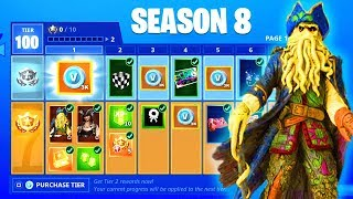 Fortnite SEASON 8 BATTLE PASS - FREE REWARDS, THEME, SKINS (SNOWFALL SKIN STAGE 4 SEASON 7 ENDING)