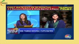Sangita Reddy, SVP, FICCI in conversation with CNBC TV18 on RBI rate cut