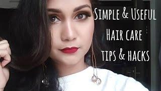 Simple & Useful Hair hacks every girl should Know | Nidhi Katiyar