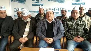 Aam Aadmi Party press conference at Rajbagh Srinagar