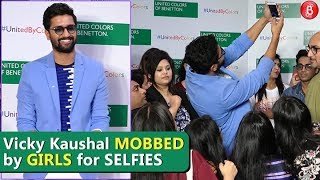 Vicky Kaushal MOBBED By Fan Girls For Selfies
