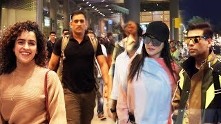 Bollywood Celebs Spotted At Mumbai Airport | Sunny Leone, Sanya, Ms Dhoni