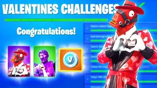 Fortnite VALENTINES Challenges VBUCKS FREE REWARDS, Share the Love EVENT, SNOWFALL SKIN STAGE 4 KEY