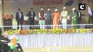 CM Yogi flags off motor car rally in Lucknow