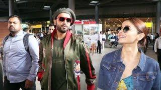 Ranveer & Alia Return From Gully Boy Delhi Promotion