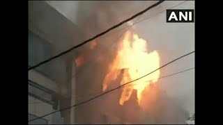 Delhi- Fire breaks out at a factory in Naraina