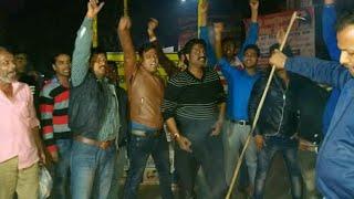 पुलवामा में जवानों पर हुए हमले के विरोध में पाकिस्तान मुर्दाबाद के नारे लगाकर विरोध प्रदर्शन