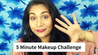5 मिनट Makeup Challenge | Trying full face makeup in 5 mins | Nidhi Katiyar