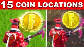 ALL 15 LOCATIONS - Collect Coins in Featured Creative Islands LOCATIONS OVERTIME CHALLENGES FORTNITE