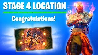 STAGE 4 KEY Wallpaper Location! Snowfall Skin ALL KEYS Locations Fortnite - Stage 4 Key Hunt