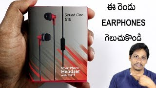 Earphones under 500 sound one 616 unboxing and Win Headset telugu
