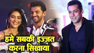 Salman Khan's NEXT Film NOTEBOOK Actors Zaheer Iqbal And Pranutan At Filmfare Awards 2019