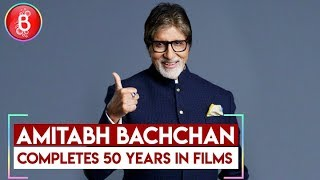 Abhishek Bachchan Shares an Emotional Post On Amitabh Bachchan's 50 Years In Bollywood