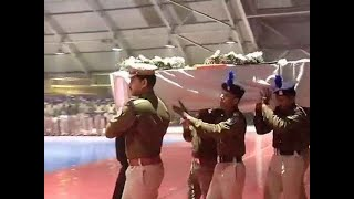 Pulwama attack- Wreath-laying ceremony of the CRPF jawans at Palam airport