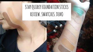 Stay Quirky foundation concealer color corrector sticks review and swatches comparison with Ny Bae