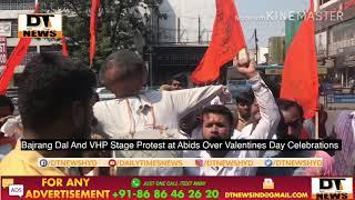 Bajrang Dal   Protest Against Valentines Day   Hyderabad - DT News