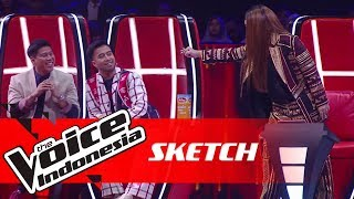 Kelakuan Coach Vidi dan Nino Bikin Coach Titi DJ Ngegas!   SKETCH   The Voice Indonesia GTV 2018