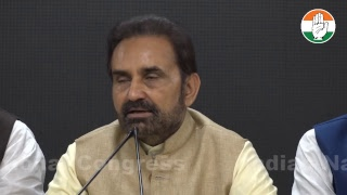 LIVE- AICC Press Briefing by Shaktisinh Gohil at Congress HQ
