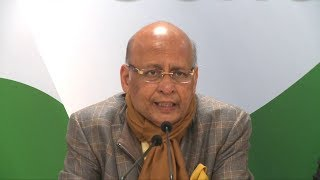 LIVE- AICC Press Briefing By Abhishek Manu Singhvi at Congress HQ