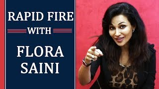Rapid Fire Round With FLORA SAINI | Stree And Gandii Baat Actress