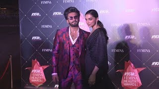Beautiful Couple Ranveer Singh And Deepika Padukone At Nykaa Femina Beauty Awards 2019