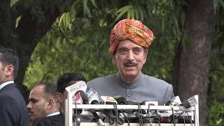 Rao Kamalveer Joins Congress- Ghulam Nabi Azad and Ashok Tanwar addresses media at Congress HQ