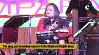 Singer Usha Uthup participates in 28th Taj festival at Agra