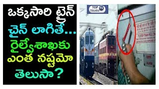 ఒక్కసారి ట్రైన్ చైన్ లాగితే ? Emergency Alarm Chain Pulling Can Cause To Big Loss For Railways