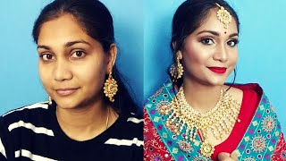 Indian Bridal Makeup - Glossy Dewy makeup | Nidhi Katiyar