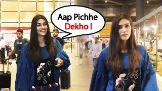 Gorgeous Kriti Sanon Spotted At Mumbai Airport