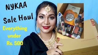 Under Rs. 500 Nykaa Sale Haul | Maybelline, Essence, Rimmel, Nykaa | Nidhi Katiyar