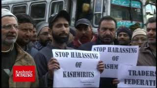 Peacful Protest at baramulla Against The Harassment And Attacks On Kashmiri Traders and Innocent stu