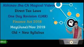 CA Final PGBP One Day Revision LMR  May/ Nov 2019 By Abhinav Jha