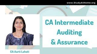 CA Intermediate Audit | Class 1 by CA Aarti Lahoti