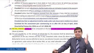 Direct Tax Amendment for CA Final | CMA Final by CA Mehul Thakker