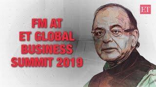 FM Jaitley at ETGBS 2019- EVM, Rafale, questions on Aadhar were fake issues