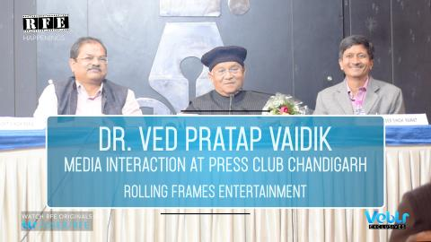 Part 3 -  Arun Johar welcoming Dr. Ved Pratap Vaidik | Press Club Chandigarh  | RFE