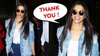 Stylish Deepika Padukone Spotted At Mumbai Airport