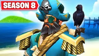 FORTNITE SEASON 8 TIER 100 SKIN - PIRATES ARE COMING TO TITLED TOWERS ...SNOWFALL SKIN STAGE 5 KEY?