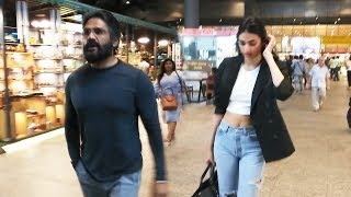 Suniel Shetty & Daughter Athiya Shetty Spotted At Airport