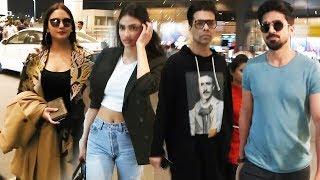 Bollywood Celebs Spotted At Mumbai Airport | Huma Qureshi, Karan Johar, Athiya Shetty