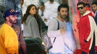 Bollywood Celebs Spotted At Airport | Ranbir Kapoor, Alia Bhatt, Arjun Kapoor, Karan Johar