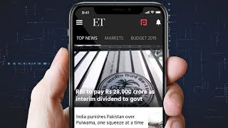 Here's the all-new Economic Times App | Download now from Google Play, App Store