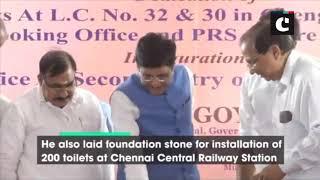 Piyush Goyal lays foundation stone for installation of 200 toilets in Chennai