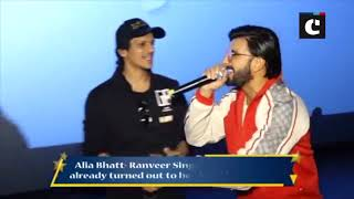 Gully Boys Ranveer Singh, Siddhant Chaturvedi and Vijay Varma surprise fans at Mumbai's multiplex