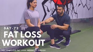 Women Fat Loss Workout! Day-72 (Hindi / Punjabi)